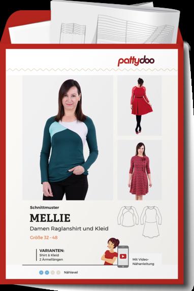Papierschnittmuster Damen Raglanshirt Mellie von PattyDoo