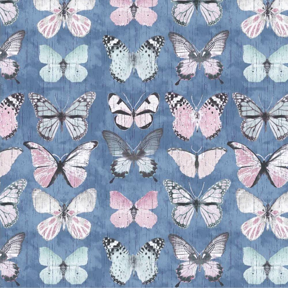 "Canvas ""Beautiful Butterflies"" - blau"
