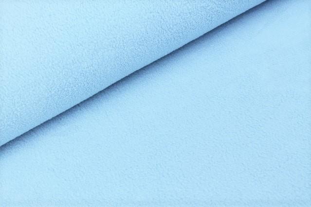 Baumwoll-Fleece uni hellblau
