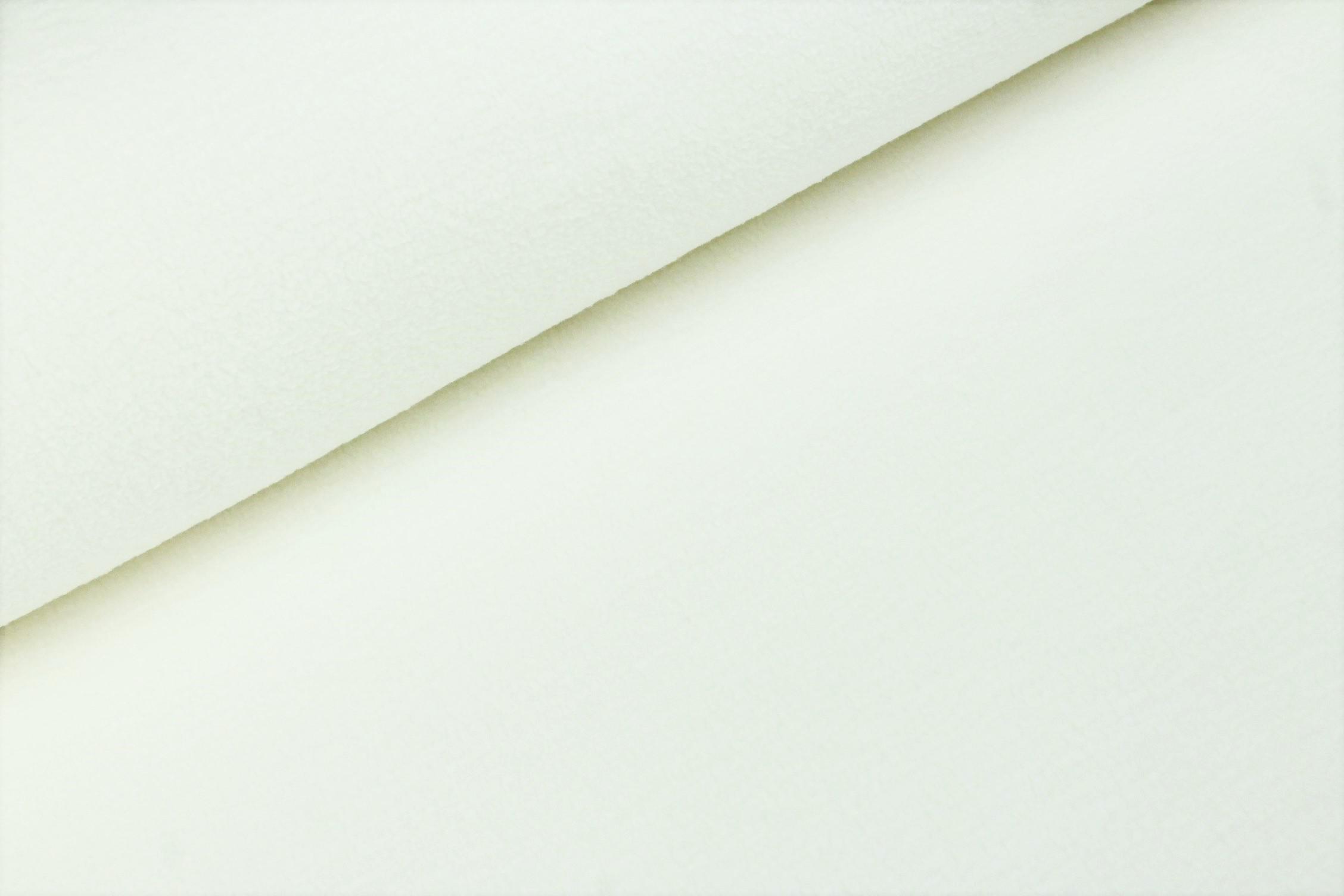 Baumwoll-Fleece uni ecru