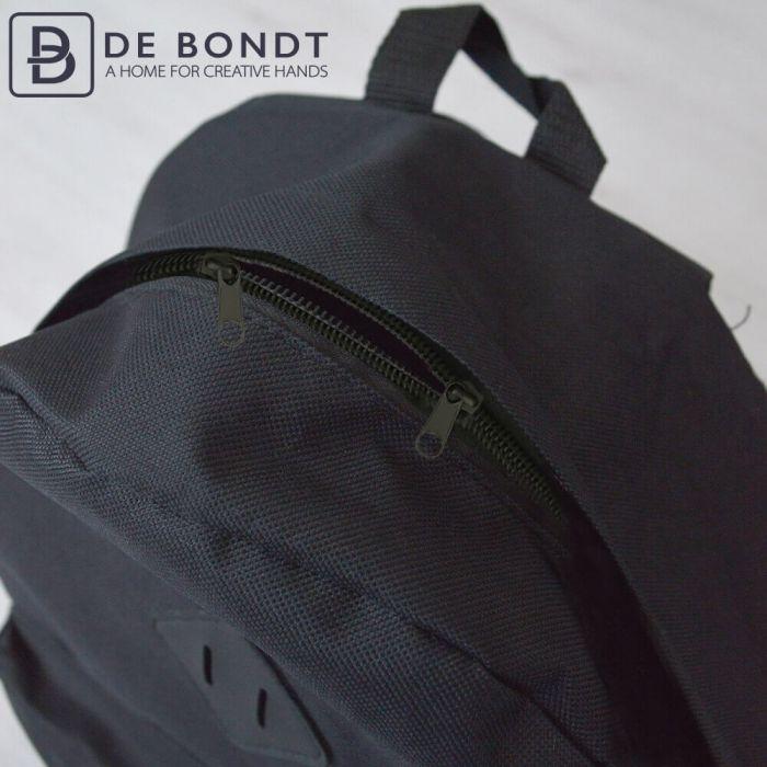 Reissverschluss Rucksack mit 2 Schiebern 60cm grau