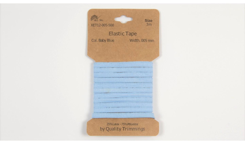 Karte 3m Elastik Gummi 5mm breit in baby blue (500)