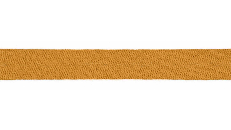Schrägband Musselin uni ocker (033)