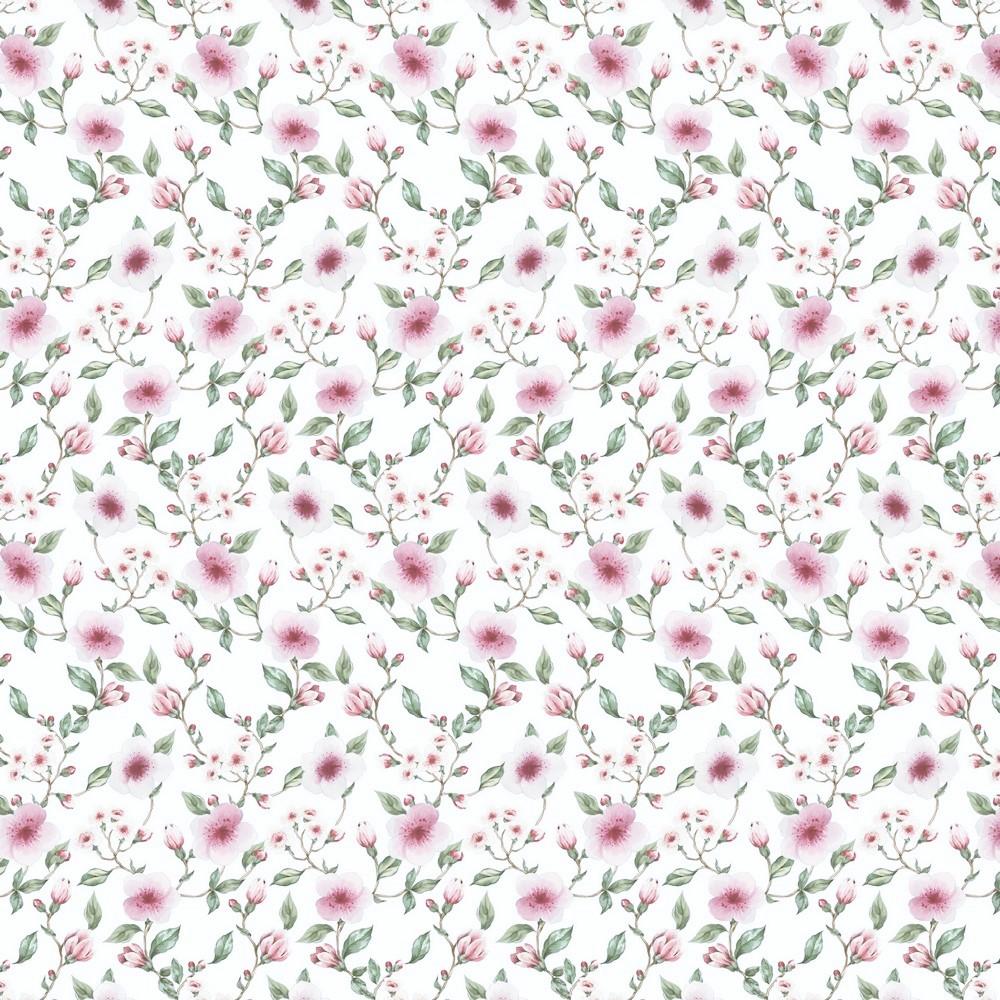 """Sommersweat Organic Cotton """"Flower Blossom"""" weiß - Digitaldruck"""