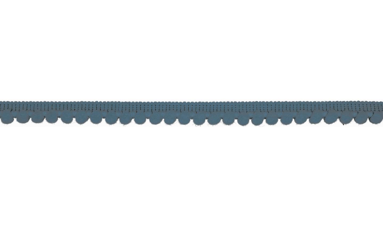 Pom Pom Borte in uni jeansblau 6mm (502)