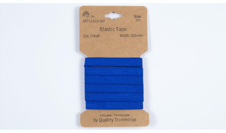 Karte 3m Elastik Gummi 10mm breit in kobalt (507)