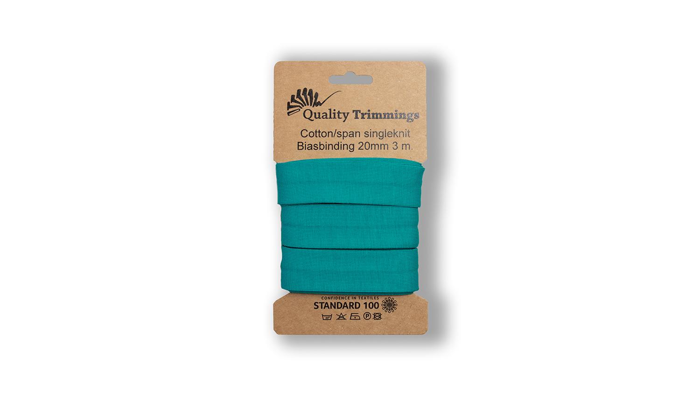 Schrägband Jersey Ben uni emerald (206) Karte 3m