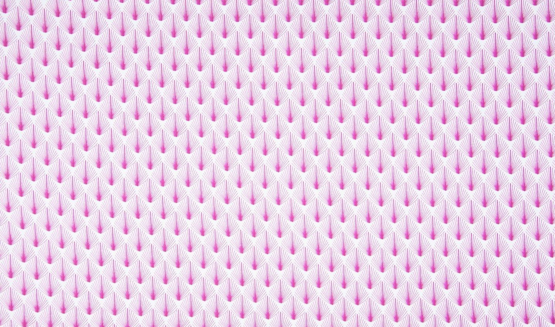 "Baumwolljersey Organic Cotton ""Retro Leaves"" - pink"