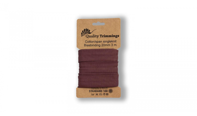 Schrägband Jersey Ben uni dusty bordeaux (218) Karte 3m