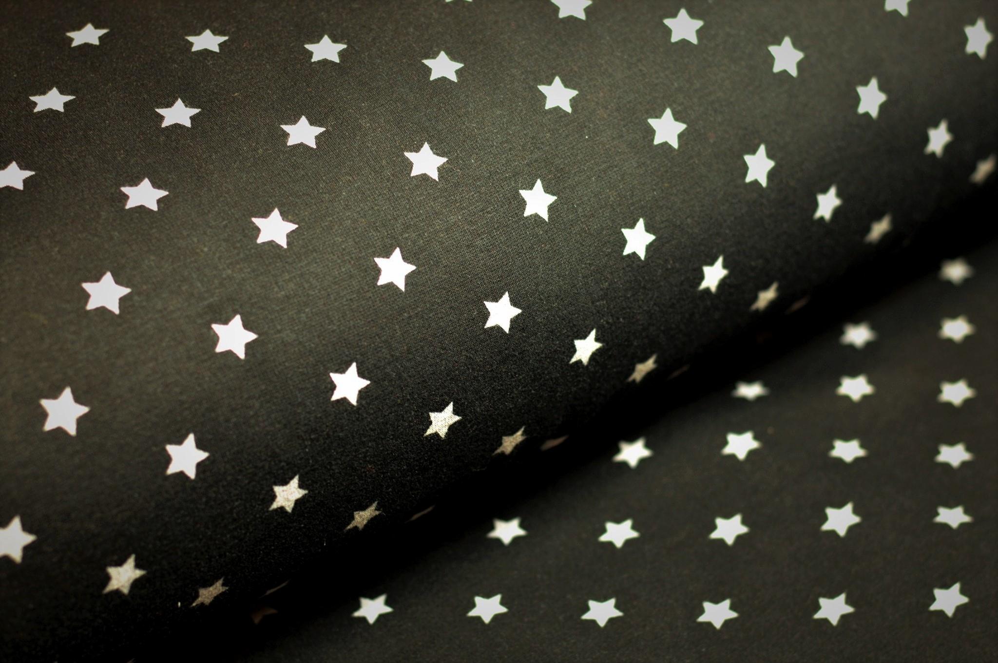 Alpenfleece schwarz mit Sternen