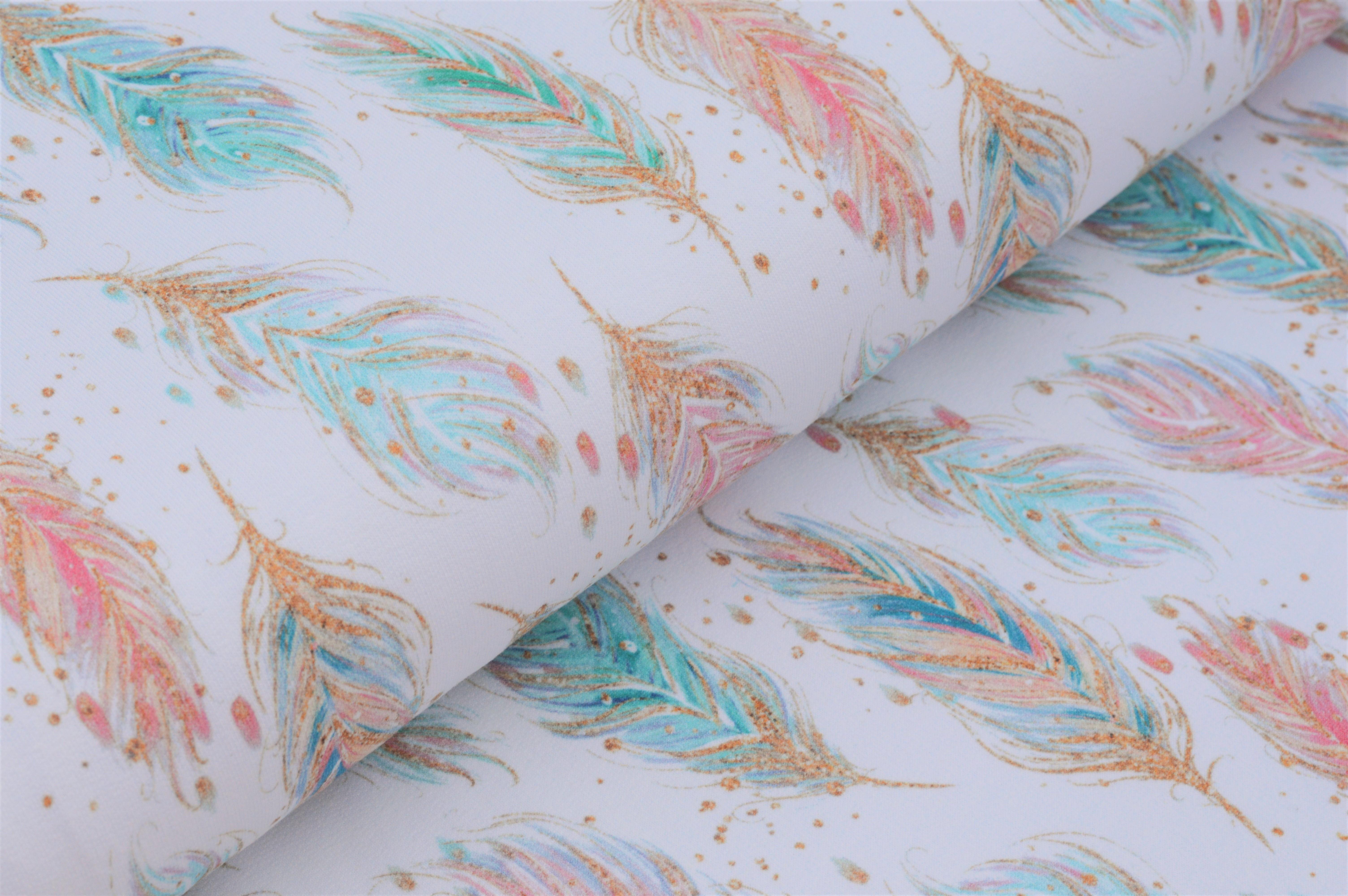 Organic Cotton Sweat mit Federn -  weiß