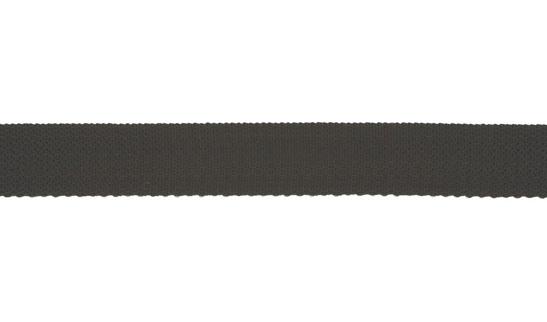 Gurtband Polyester 25mm uni schwarz
