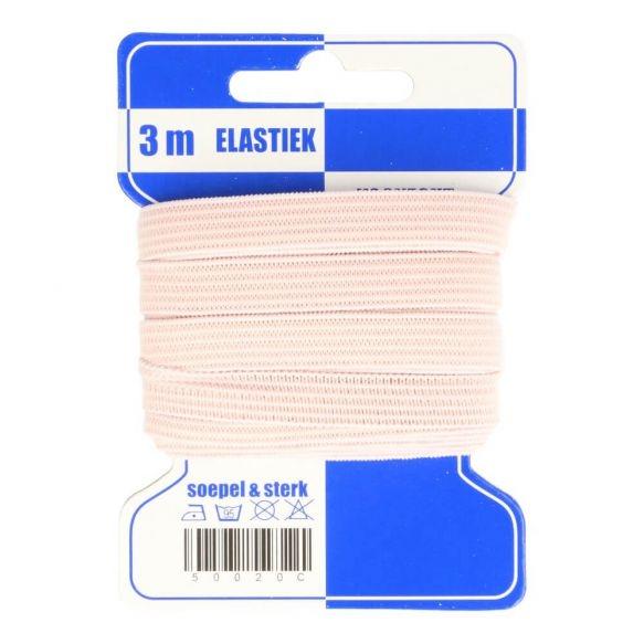 Karte 3m Gummi 10mm breit in pastellrosa