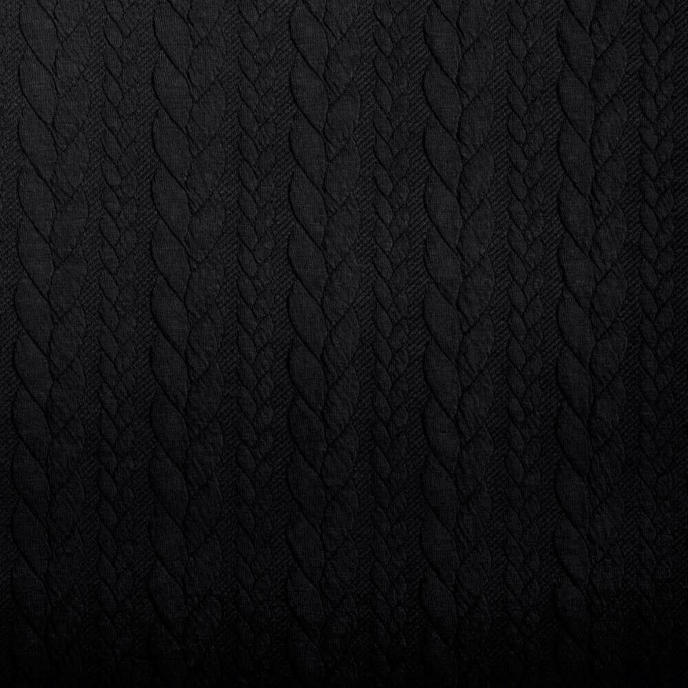 Sweat in Strickoptik mit Zopfmuster - schwarz