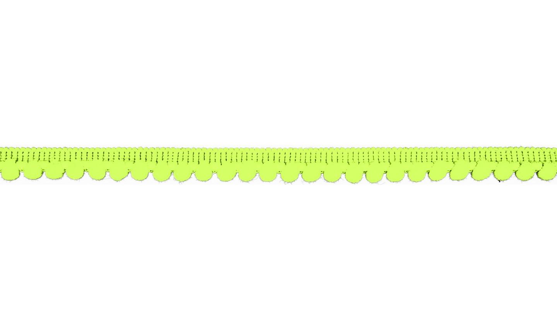 Pom Pom Borte in uni neon gelb 6mm (591)