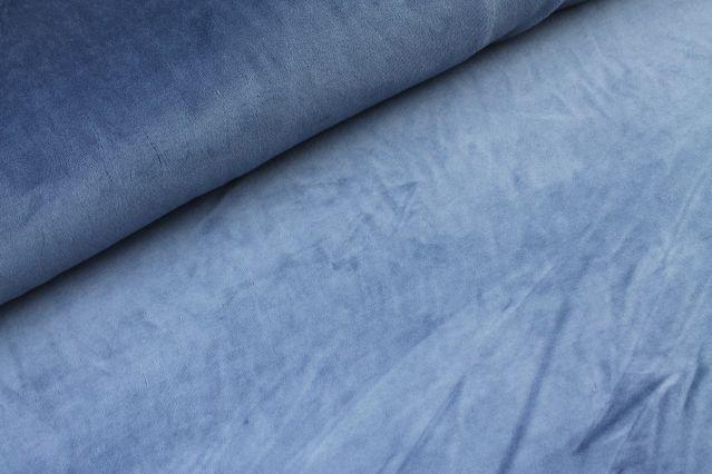 0,64m Reststück    Nicki Verlours uni jeansblau