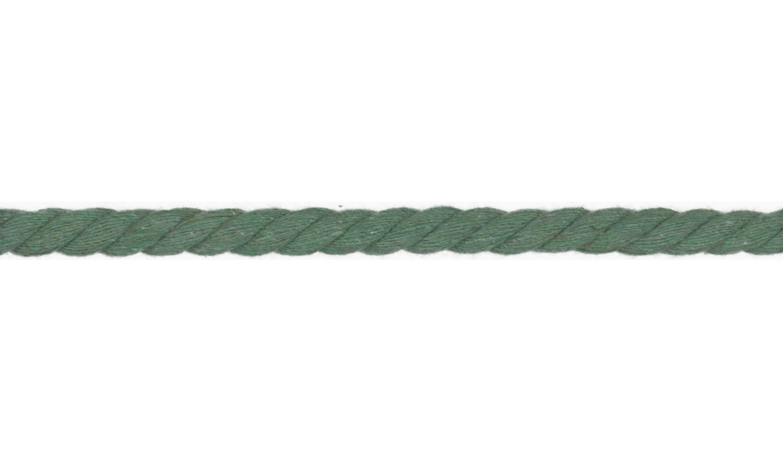Kordel Baumwolle rund 10mm uni dusty green