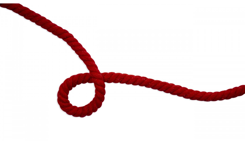 Kordel Baumwolle rund 10mm uni red