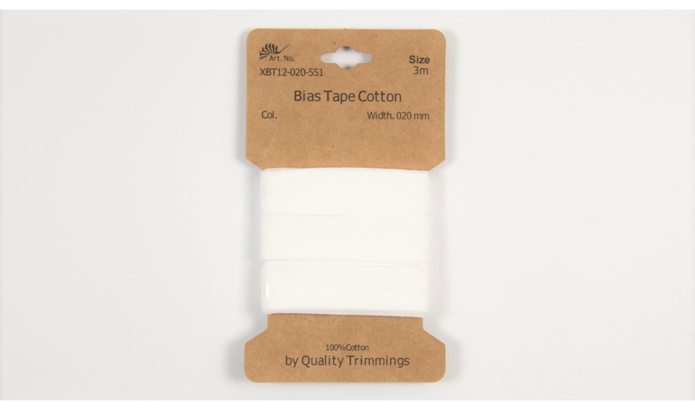 Karte 3m Baumwoll-Schrägband 20mm breit in offwhite (551)
