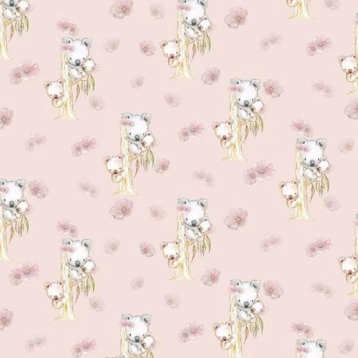 "Digitaljersey Organic Cotton ""Koala Family"" - dusty light rose"