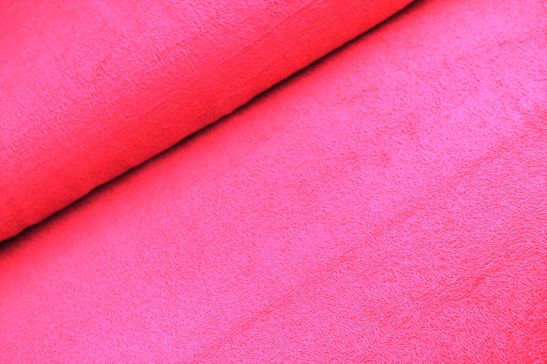 Frotteestoff uni pink