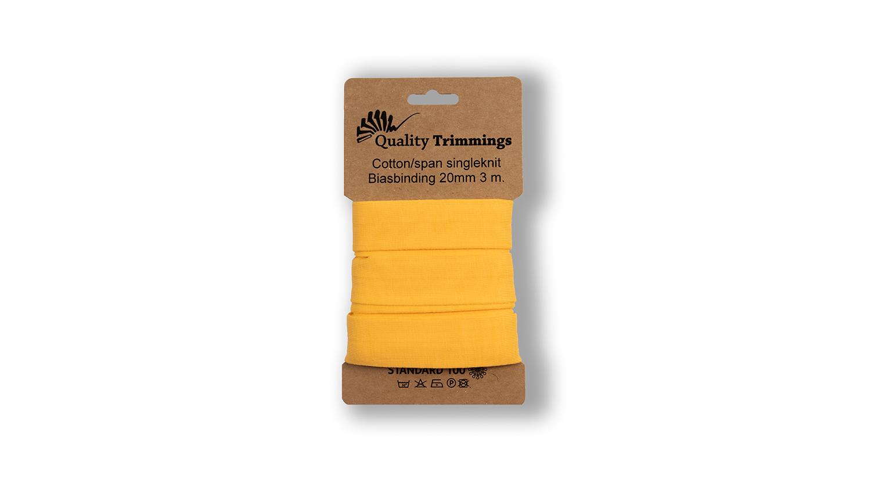 Schrägband Jersey Ben uni yellow (031) Karte 3m