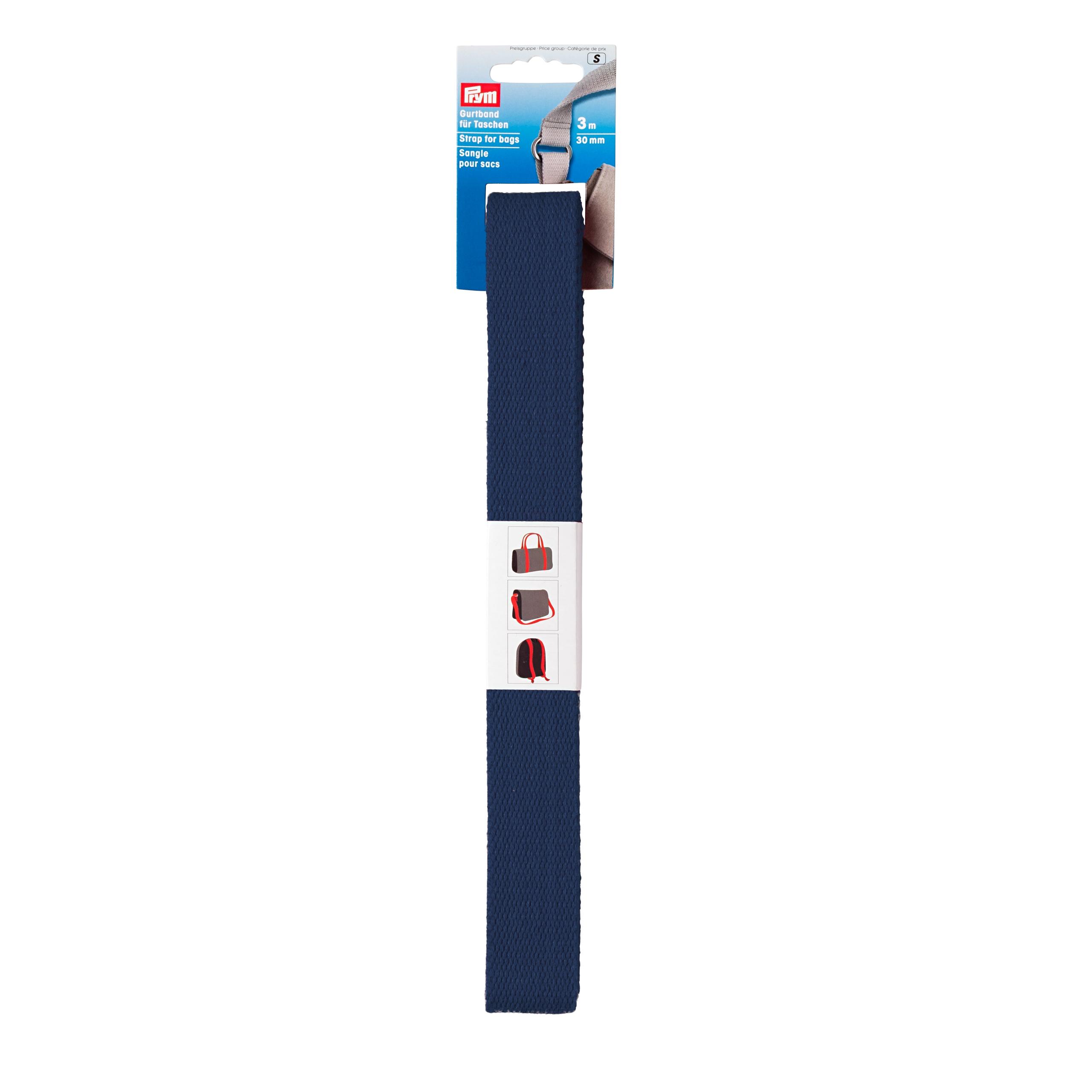 Prym Gurtband für Taschen 30mm marine - 3m abgepackt