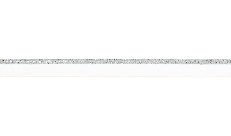 Paspelband mit Lurex uni weiß 10mm