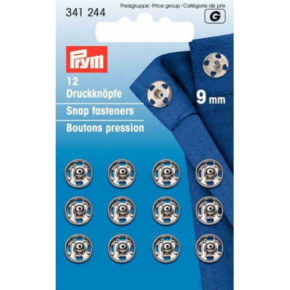 Prym Annäh-Druckknöpfe 9mm silber