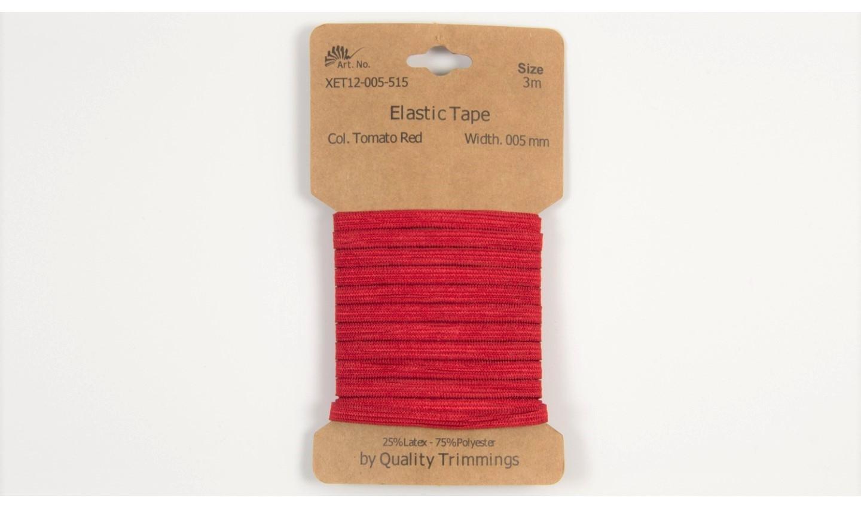 Karte 3m Elastik Gummi 5mm breit in rot (515)