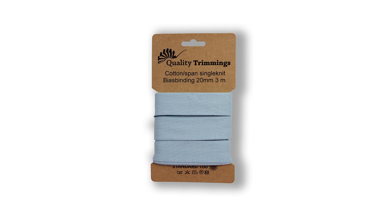 Schrägband Jersey Ben uni baby blue (003) Karte 3m