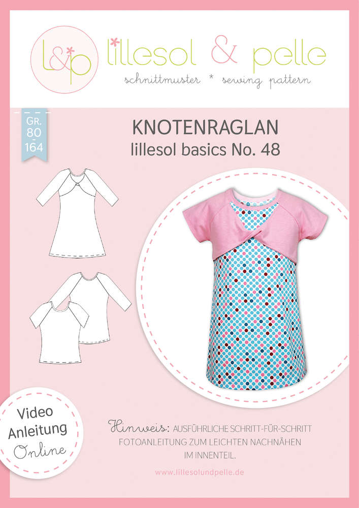 Papierschnittmuster Knotenraglan Shirt & Tunika kids basics No.48 von Lillesol&Pelle