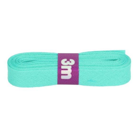 3m Baumwoll Schrägband uni mint 12mm