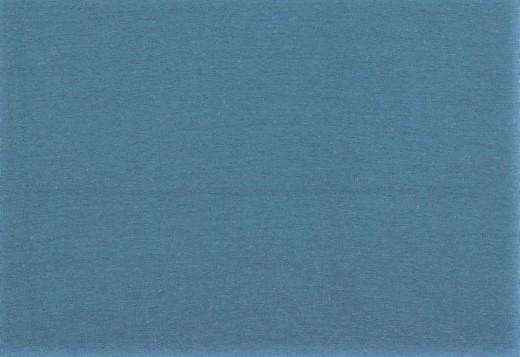 Organic Cotton Bündchenstoff uni jeansblau (018)