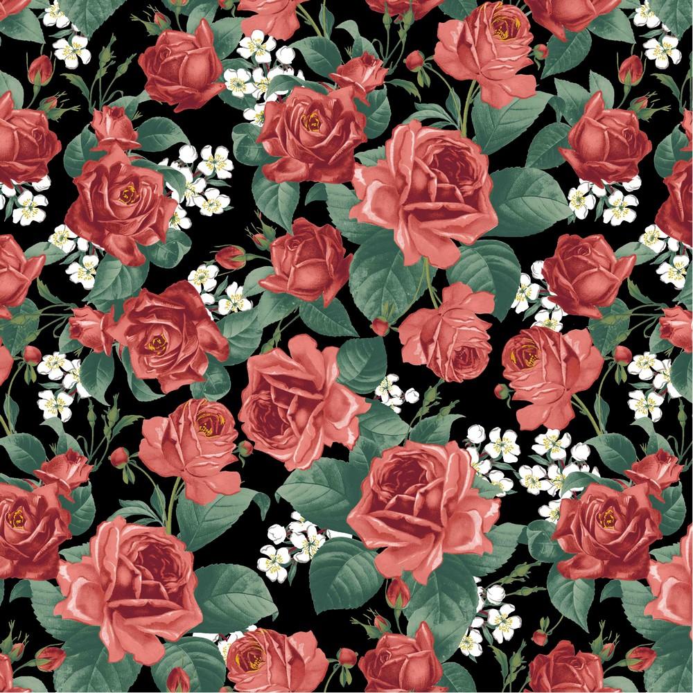 """Canvas """"Roses"""" mit Rosen - schwarz"""