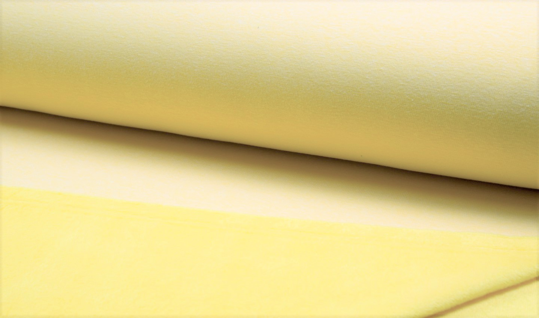 Alpenfleece uni gelb melange