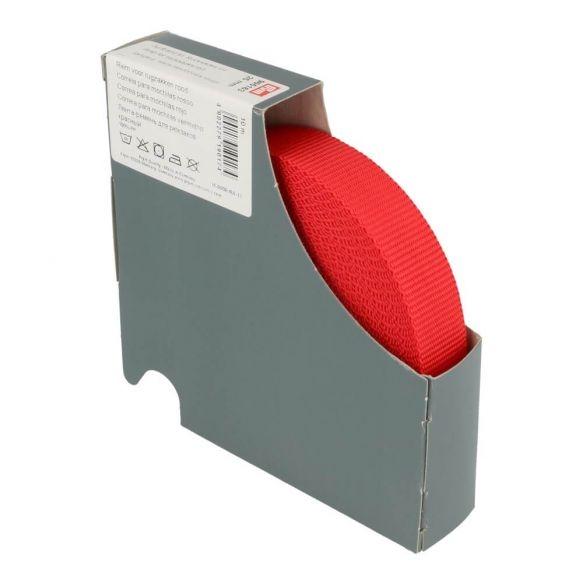 Prym Gurtband für Rucksäcke 25mm uni rot