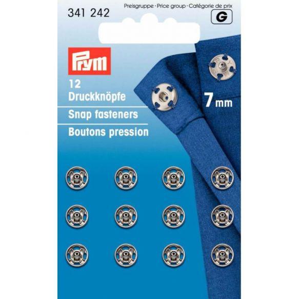 Prym Annäh-Druckknöpfe 7mm silber
