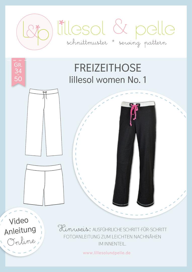 Papierschnittmuster Freizeithose lillesol women No.1 von Lillesol&Pelle