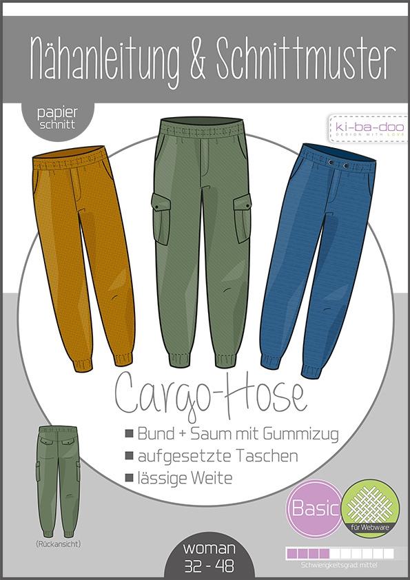 Papierschnittmuster Cargo Hose Damen 32-48 von Ki-ba-doo