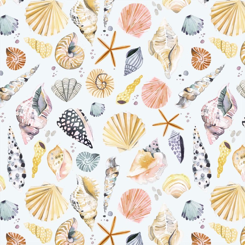 "Canvas Digital ""Seashells"" - ecru"
