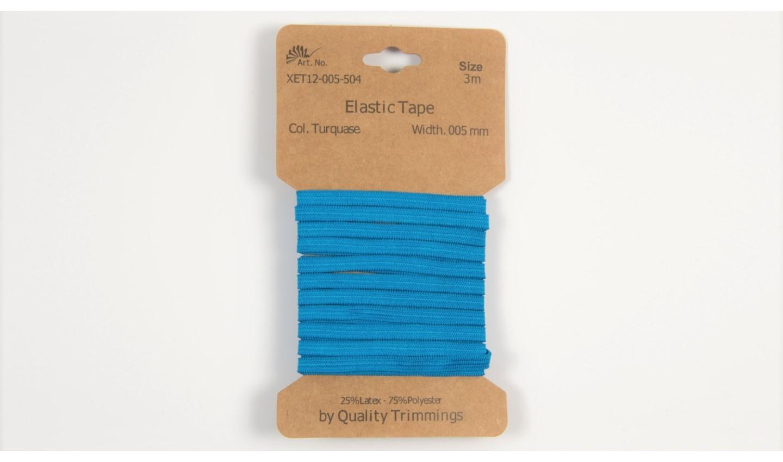 Karte 3m Elastik Gummi 5mm breit in türkis (504)