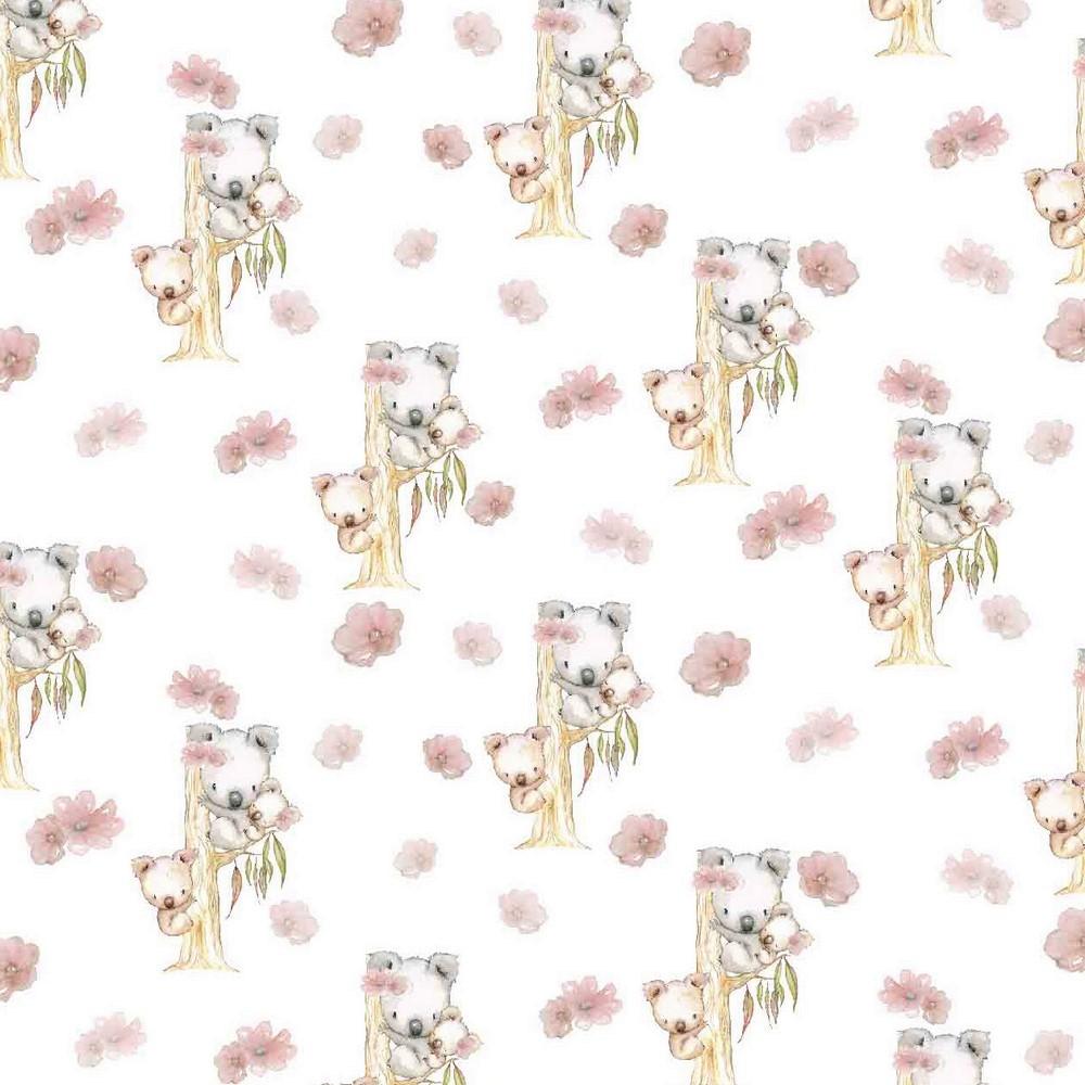 "Digitaljersey Organic Cotton ""Koala Family"" - ecru"