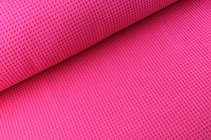 Waffelstoff uni pink