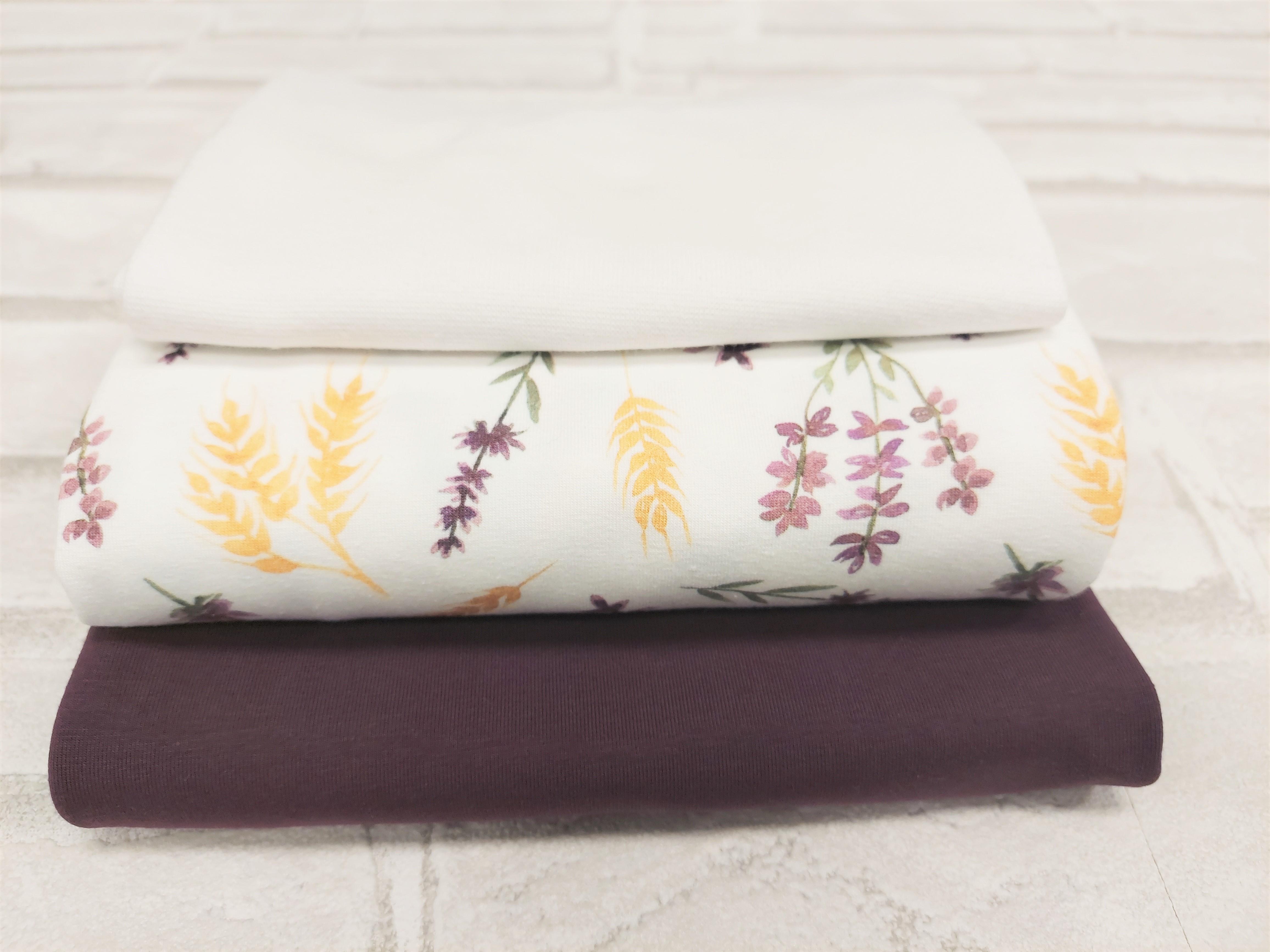 """Paket Digitaljersey+Uni+Bündchen """"Lavendel und Weizen"""""""