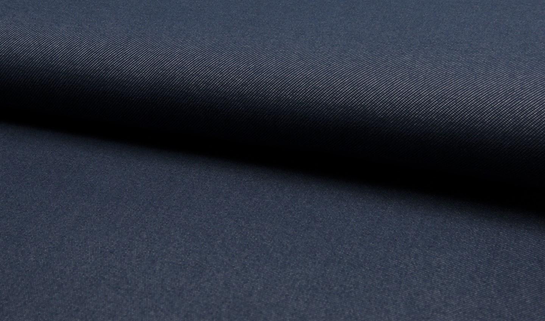 Jersey uni dunkelblau in Jeansoptik