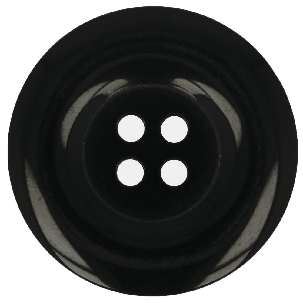 Knopf schwarz glänzend 22,5mm