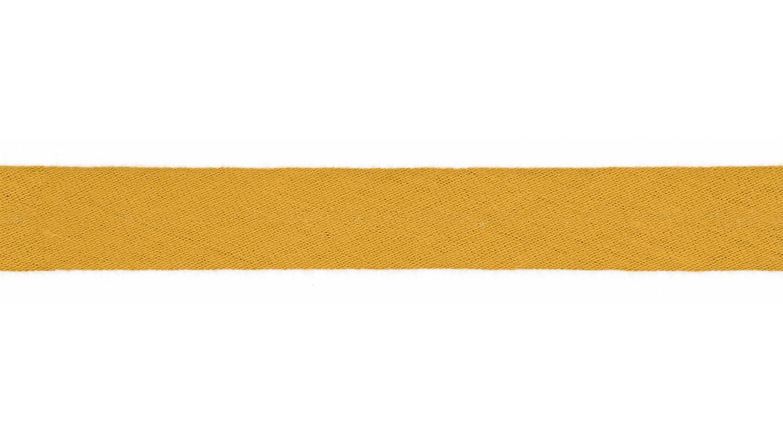 Schrägband Musselin uni curry (085)