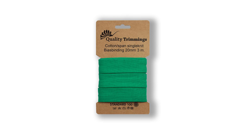 Schrägband Jersey Ben uni bright green (024) Karte 3m