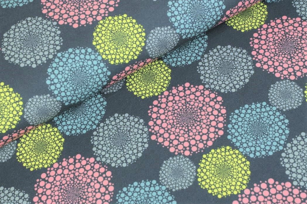 """Sommersweat angeraut """"Dots in Dots"""" - grau"""
